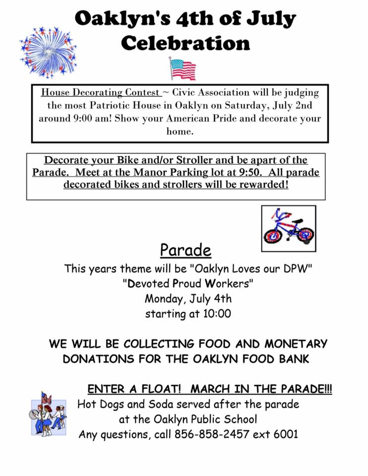 Details for Oaklyn Fourth of July parade. Credit: Oaklyn Civic Association.