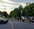 The scene of an apparent train-car collision in Audubon. Credit: Matt Kerth.
