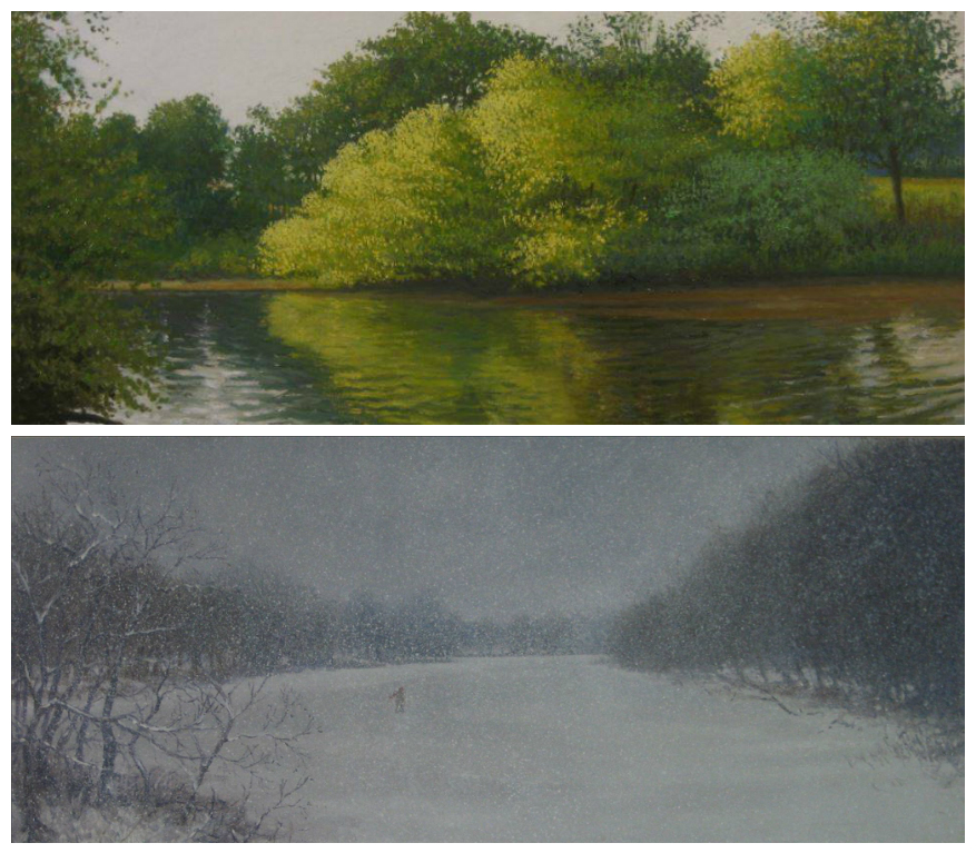 Landscape artwork by painter Philip J. Carroll. Credit: Perkins Center for the Arts.
