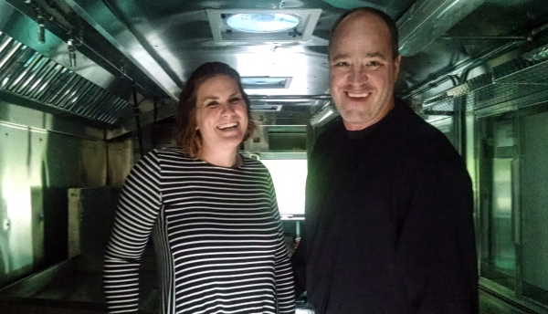 Grace and Rooks said the truck will give them the opportunity to create a variety of dishes. Credit: Matt Skoufalos.