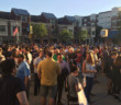 Collingswood residents gather in a vigil for victims of the Orlando nightclub shooting. Credit: Abby Schreiber.