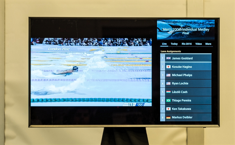A sample of the Comcast X1 Olympics events search. Credit: Tricia Burrough.