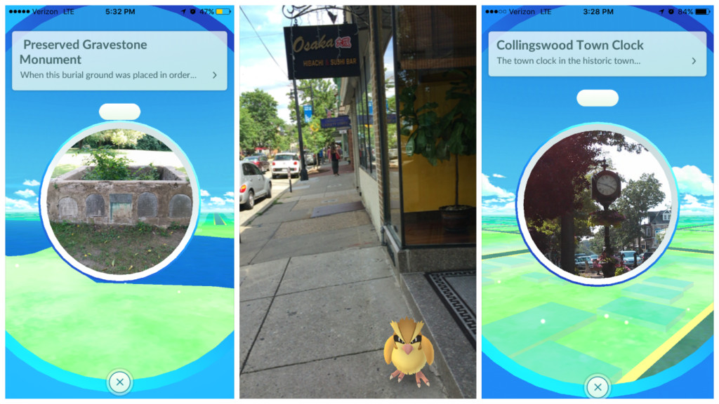 Pokemon GO involves 'augmented reality' and GPS technology. Credit: Abby Schreiber.