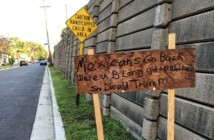 A sign discovered in Haddon Township Thursday morning. Credit: Dan Angelucci.