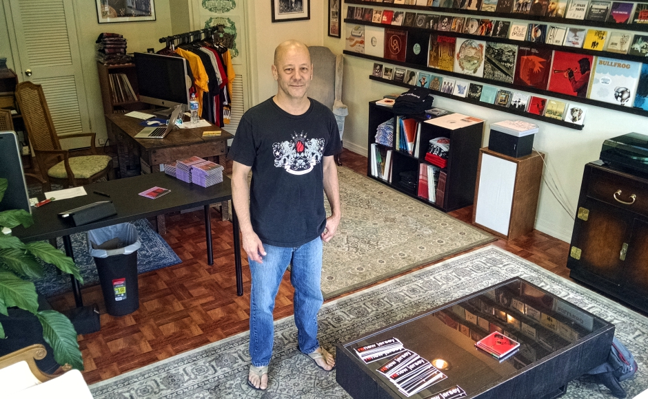 Louis Marks in the Ropeadope store in Haddon Heights. Credit: Matt Skoufalos.