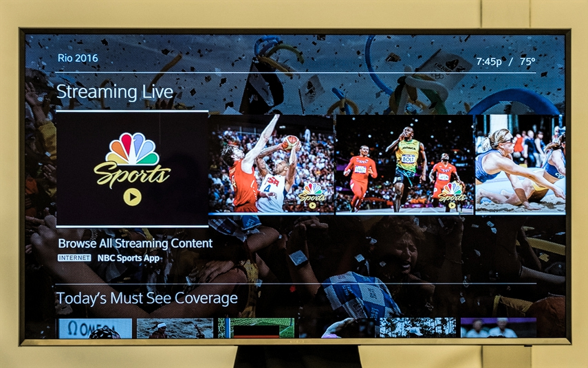 Comcast X1 Olympics content streaming services. Credit: Tricia Burrough.