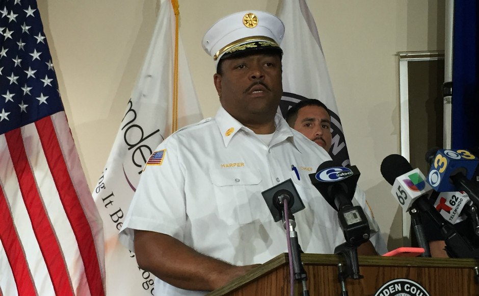 Camden City Fire Chief Michael Harper. Credit: Abby Schreiber.