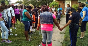Friends and family held a vigil for Jamil Baskerville, Jr. in Pennsauken. Credit: Matt Skoufalos.