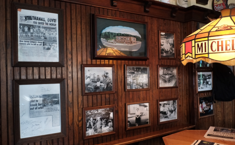 Little of the familiar decor at the Oaklyn Manor Bar has changed. Credit: Tricia Burrough.