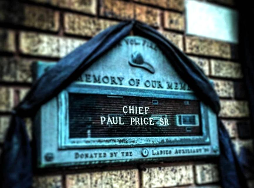 Paul Price memorial. Credit: Audubon Fire Department.