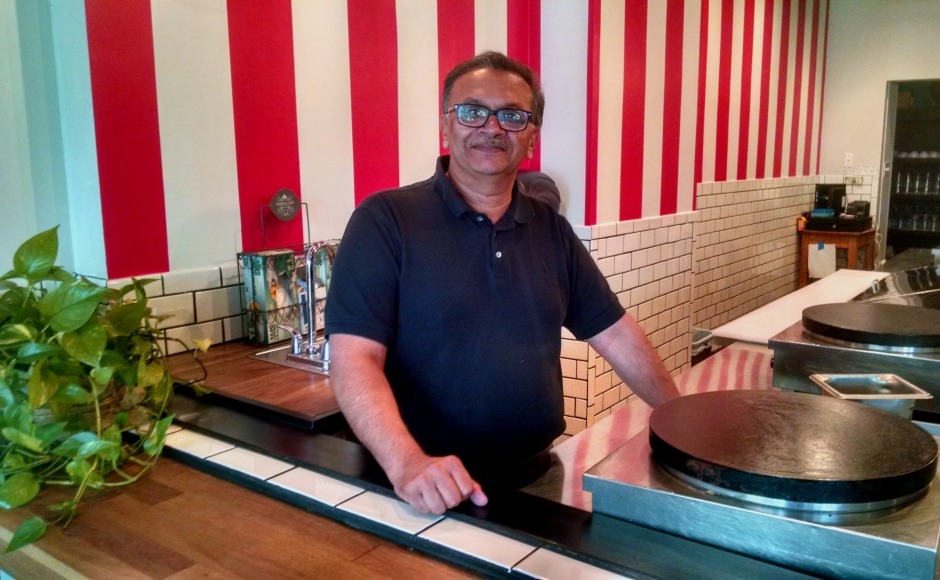 "Amalesh ""Ash"" Maitra of Le Cafe Creperie in Haddonfield. Credit: Matt Skoufalos"