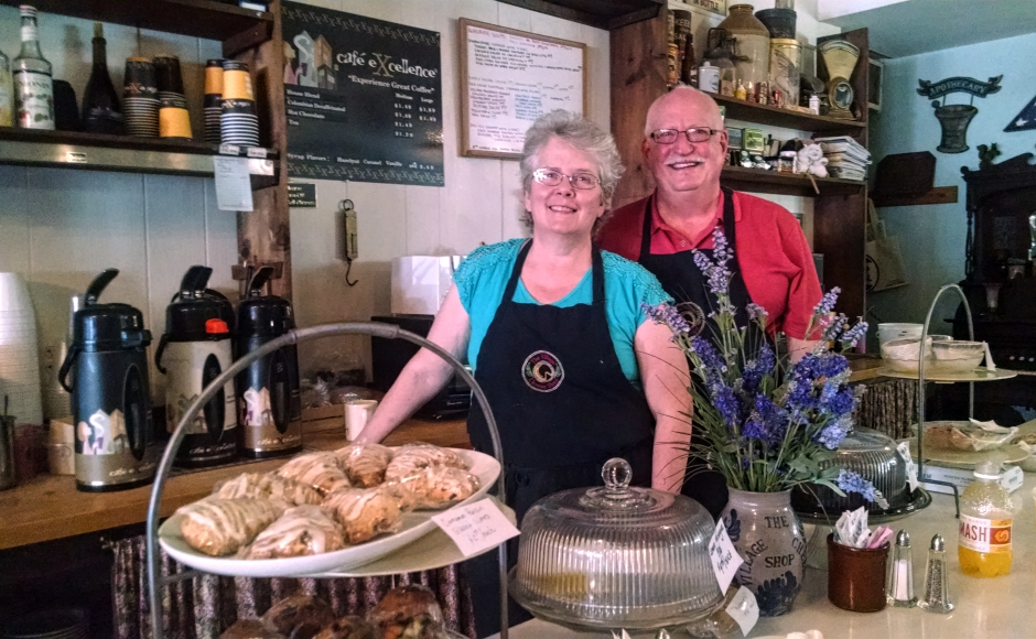 Village Cheese Shop owners Ethel and Brett Harrison said the Trump ad is good publicity for Haddon Heights. Credit: Matt Skoufalos.