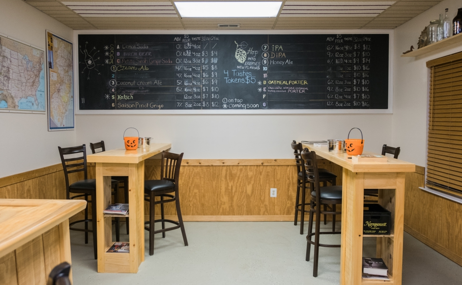 The tasting room at Eclipse Brewing in Merchantville. Credit: Tricia Burrough.