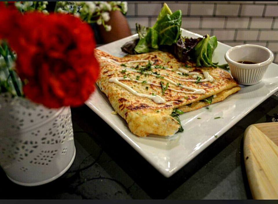 Ham and brie crepe. Credit: Le Cafe Creperie.