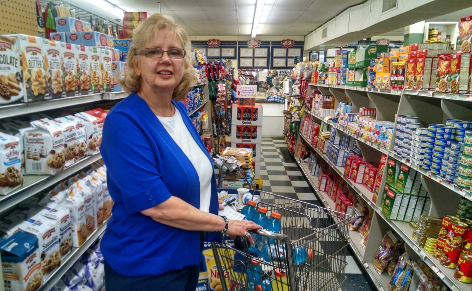 John's Friendly Market co-owner Josie Doto says her shop was used in a Donald Trump campaign ad without her consent. Credit: Matt Skoufalos.