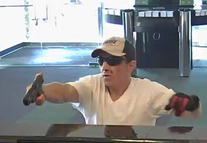 A man wanted in the armed robbery of a trio of South Jersey banks. Credit: CCPO.