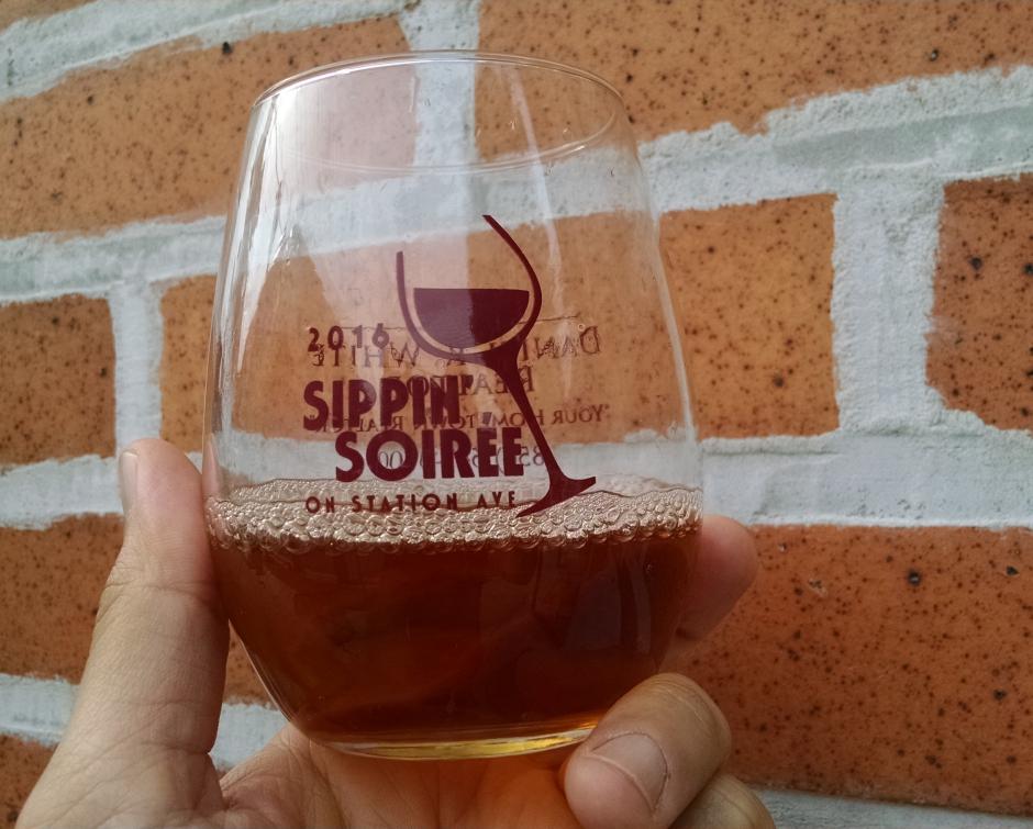 Haddon Heights Sippin' Soiree glass. Credit: Matt Skoufalos.