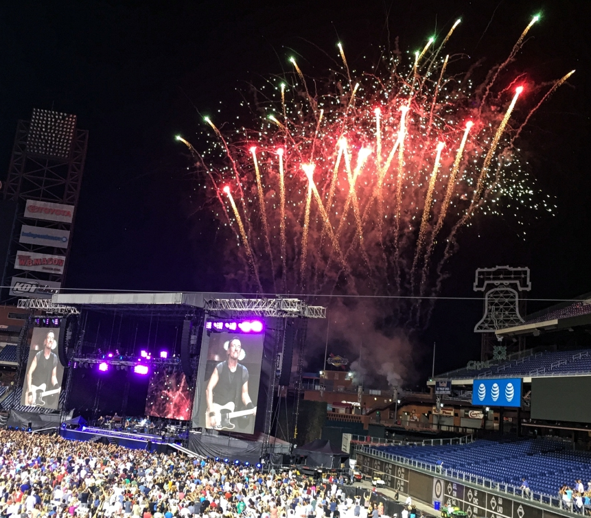 Bruce Springsteen at Citizens Bank Park, Philadelphia. Credit: June Day Photography.
