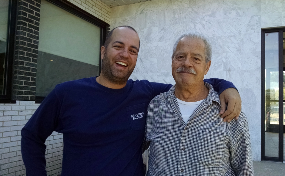 Anthony Exadaktilos, Jr. (left) and his father, Anthony Exadaktilos. Credit: Matt Skoufalos.