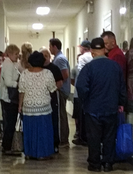 Cherry Hill residents empty out of a planning meeting about situating a recovery center in Brookfield. Credit: Matt Skoufalos.