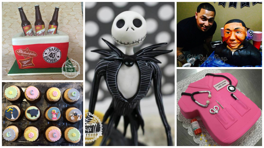 A selection of Griffin's handmade custom cakes. Credit: Sift Bake Shop.
