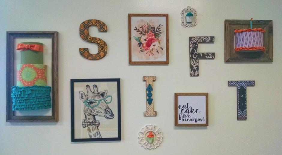 The wall art at Sift Bake Shop. Credit: Matt Skoufalos.