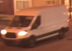 A photograph of the van driven by a man police say is wanted in a sexual assault in Camden City. Credit: CCPD.