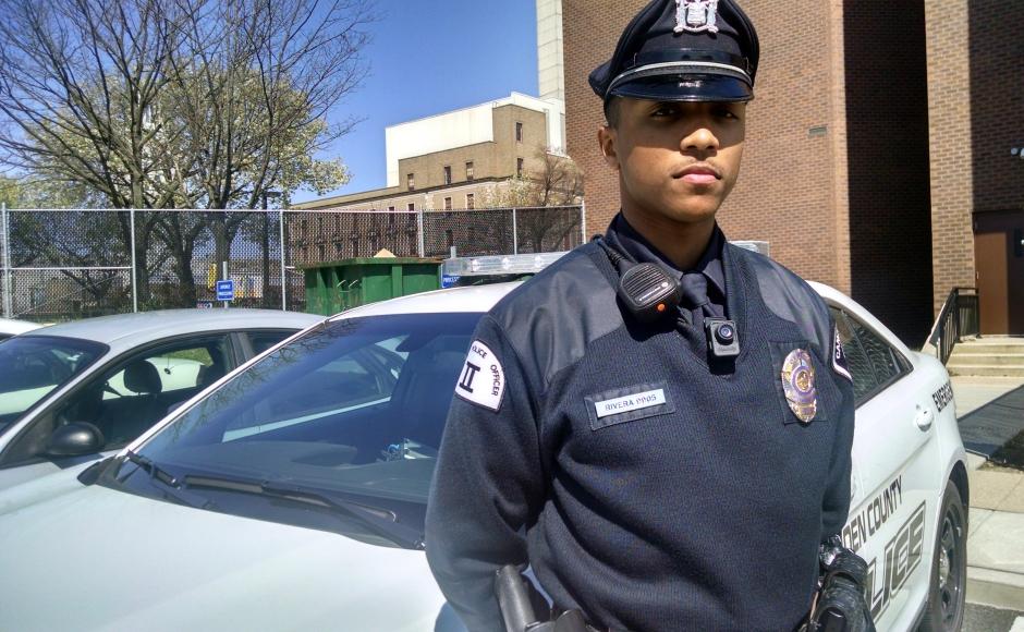 Camden County Police Officer Vidal Rivera. Credit: Matt Skoufalos.