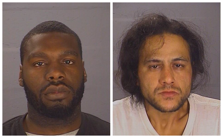 Lewis Miller (left) and Miguel Nunez were charged in a raid on an alleged Whitman Park heroin mill. Credit: CCPD.