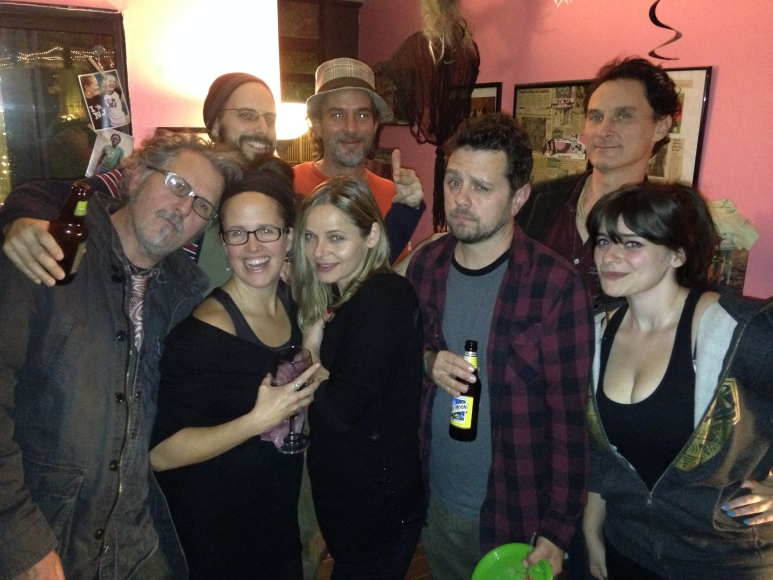 Groups of friends who met at Studio LuLoo include O'Brien (foreground, second from left), Houghton (to her right), and Falco (first row, second from right). Credit: Sara O'Brien.