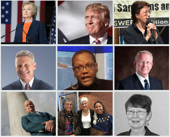 2016 balloted U.S. Presidential candidates.