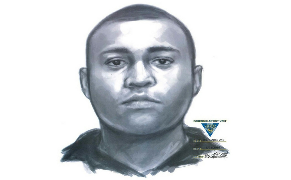 Forensic sketch of a Camden City sexual assault suspect. Credit: Camden County Police.