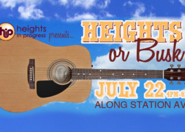 Heights or Busk: Summer Sidewalk Show on Station Ave Saturday