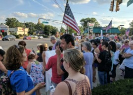 Demonstrators Condemn Charlottesville Violence in Protest at Haddon Twp.-Collingswood Border