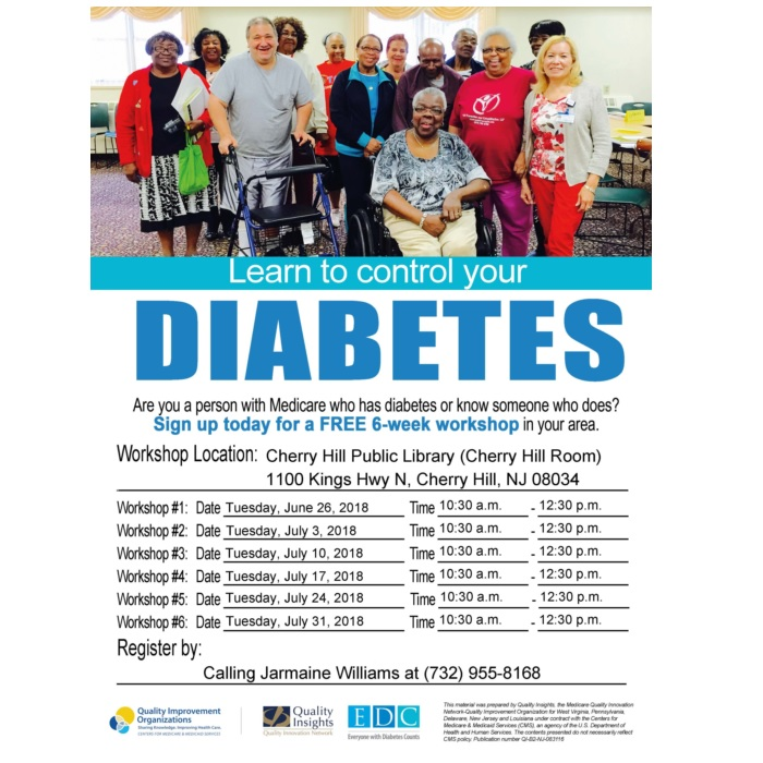 Free Diabetes Self-Management Workshop Series
