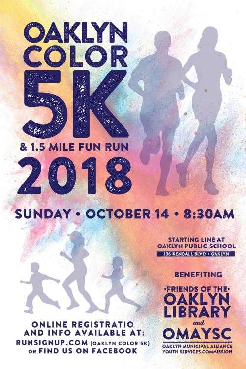 Oaklyn Color Run 5K and 1.5 Mile Fun Run