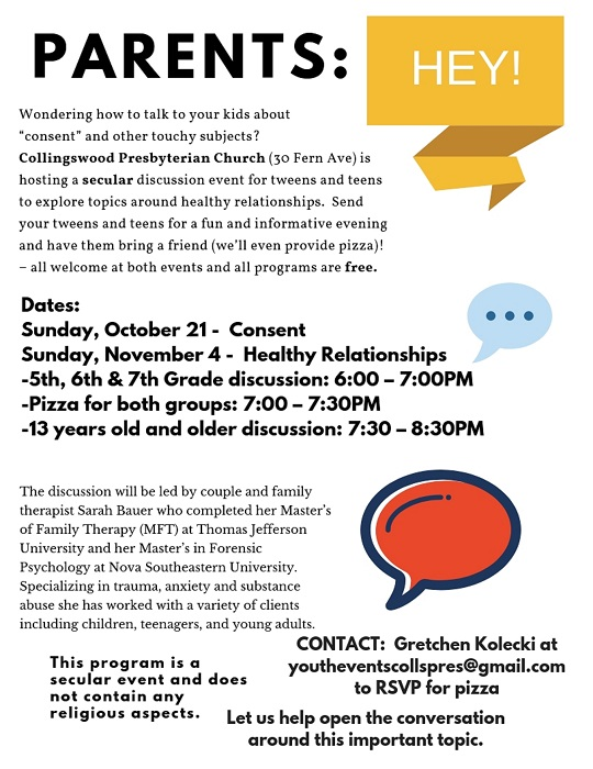 Consent and Healthy Relationship Discussions for Teens and Tweens