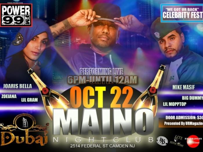 Maino, Joaris Bella, and Mike Masif coming to Dubai Night Club in Camden NJ